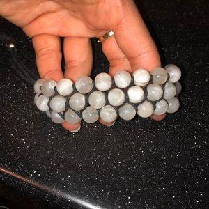 Marble bracelet with adjustable strap